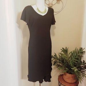 🆕️ S.L. Fashions Little Black Ruffle Dress